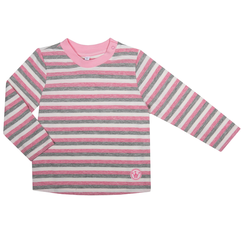 """Футболки Barkito Футболка с длинным рукавом для девочки Barkito """"Сказочный лес 2"""", розовая с рисунком в полоску футболка с длинным рукавом для девочки barkito сказочный лес 1 розовая"""