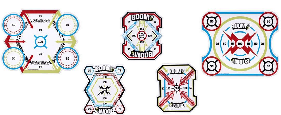 Набор мишеней Mattel Y8624 для мальчика разноцветные 5 шт. mattel система быстрой перезарядки бластеров boomco