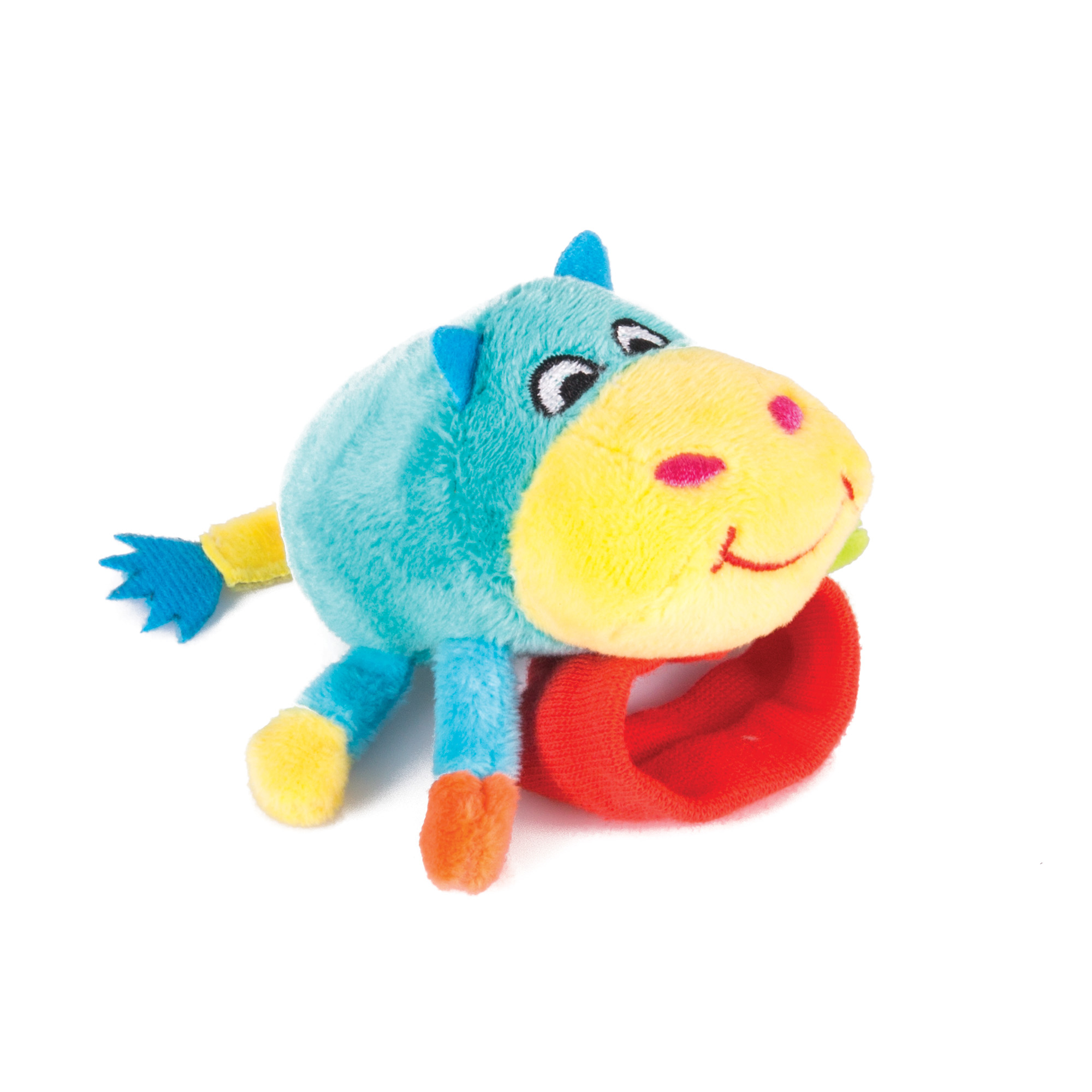 Игрушка-погремушка на ручку Happy Snail Бегемот Бубба 14HSB03BU цена 2017
