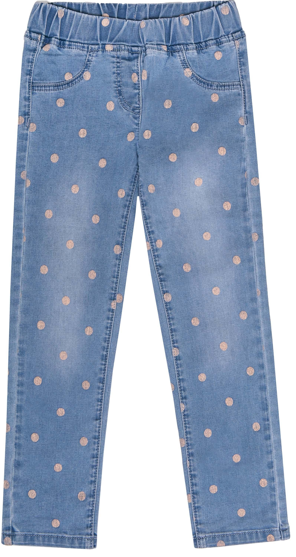 Джинсы Barkito Голубые с рисунком брюки для девочки barkito фантазия голубые с рисунком