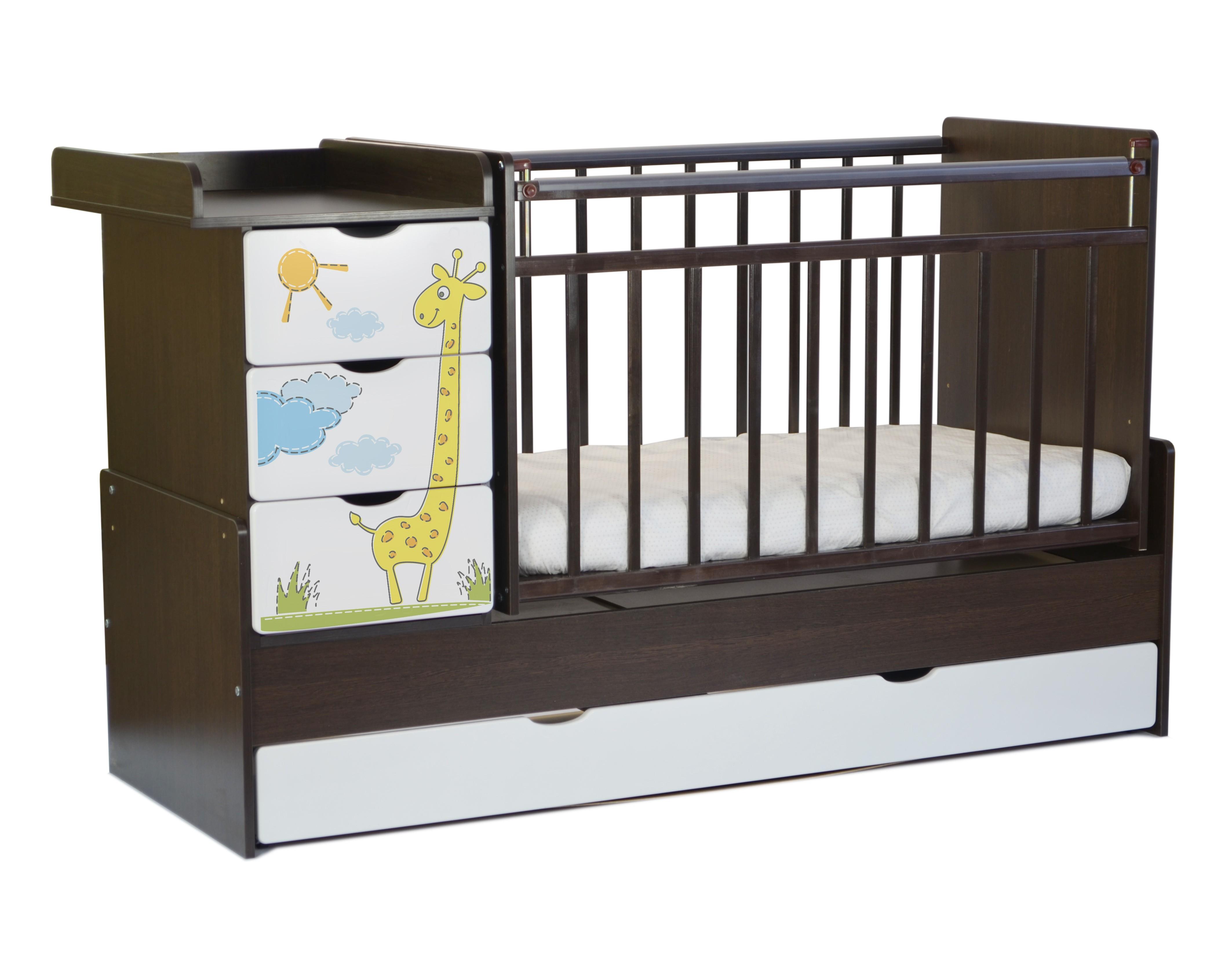 Кроватки детские СКВ-Компани 52003х Жираф фотопечать