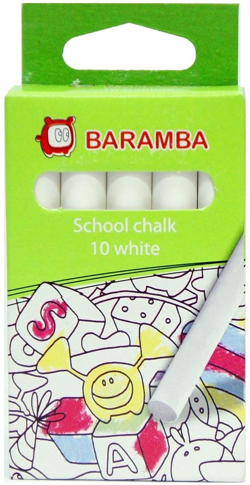 Мелки Baramba Baramba белые 10 шт. мелки белые школьные devente cosmo 10 шт