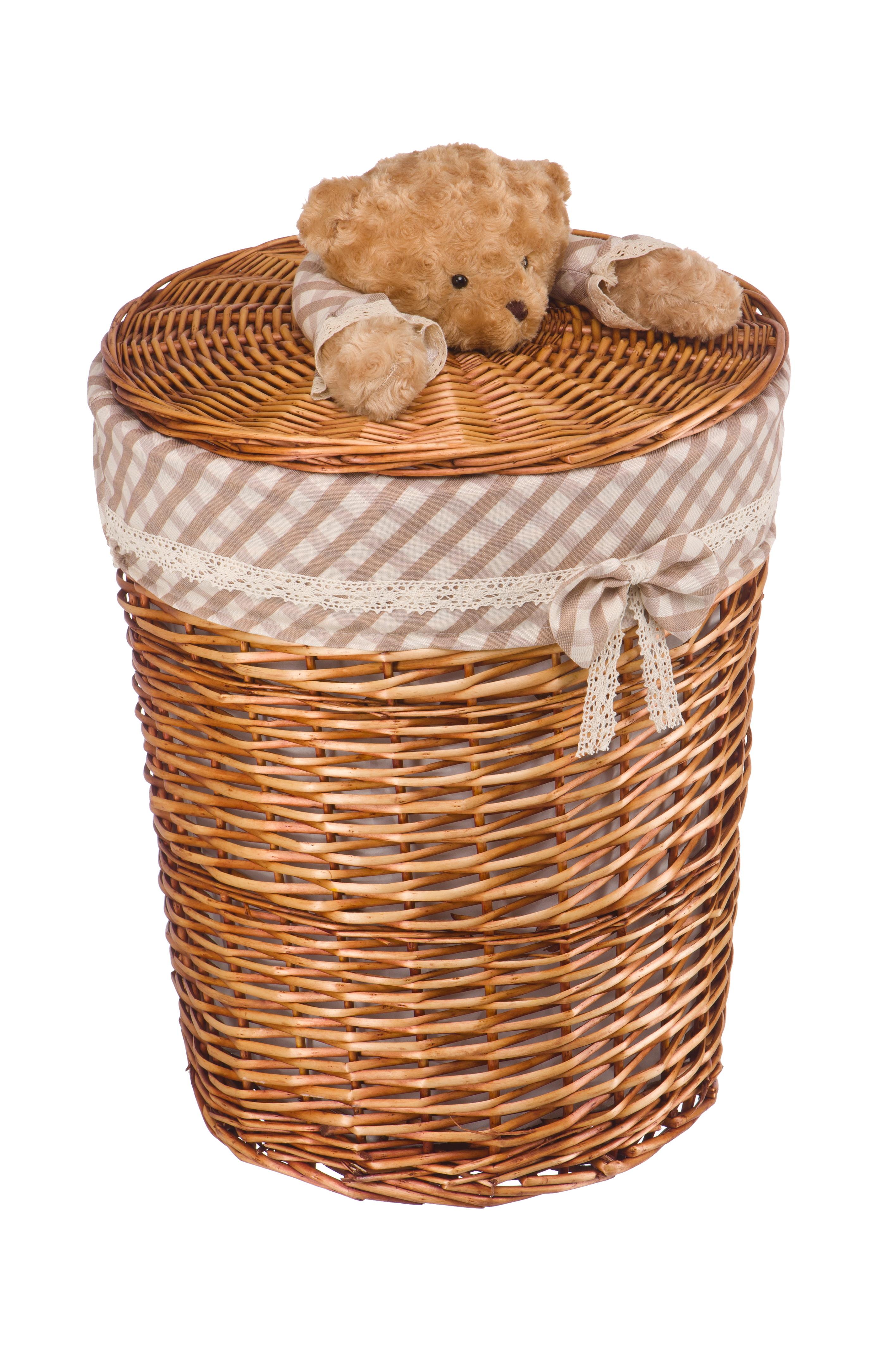Ящики и корзины для игрушек Natural House Корзина Natural House «Медвежонок» ива L коричневый teak house корзина для белья bubble