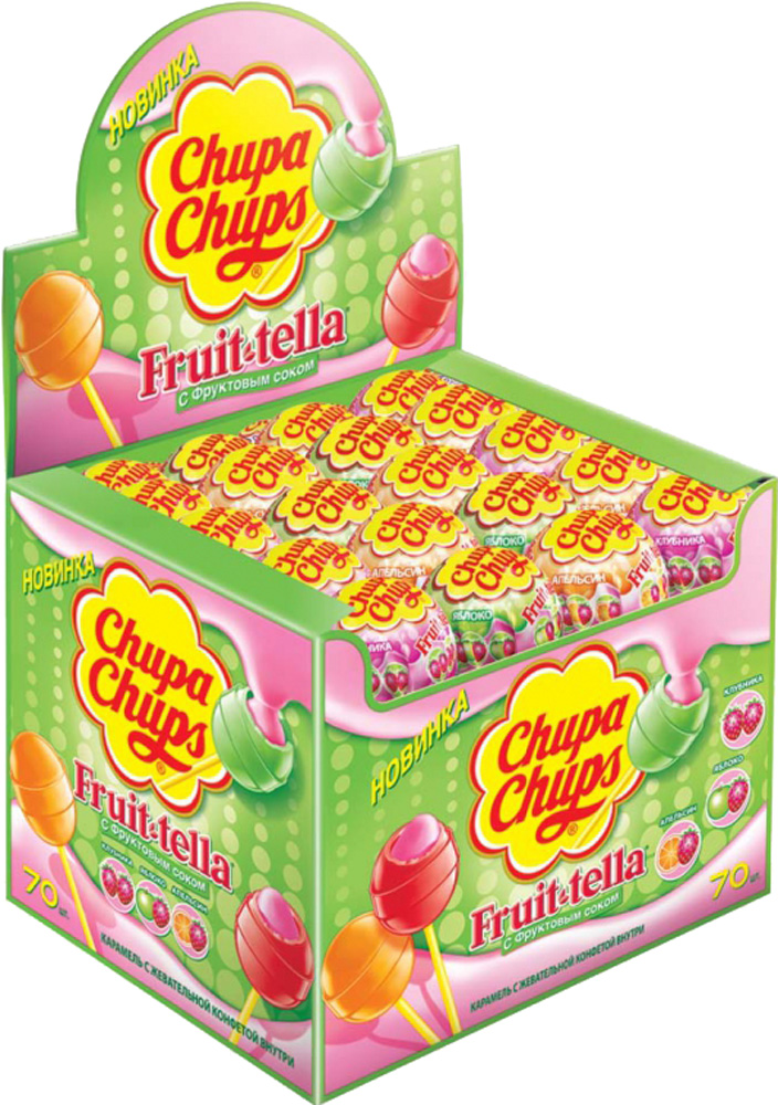 Десерты Chupa Chups Chupa Chups Fruit-tella 17 г в ассортименте chupa chups ароматизатор воздуха chupa chups lemon на панель приборов гелевый 100 мл лимон 1 6 120