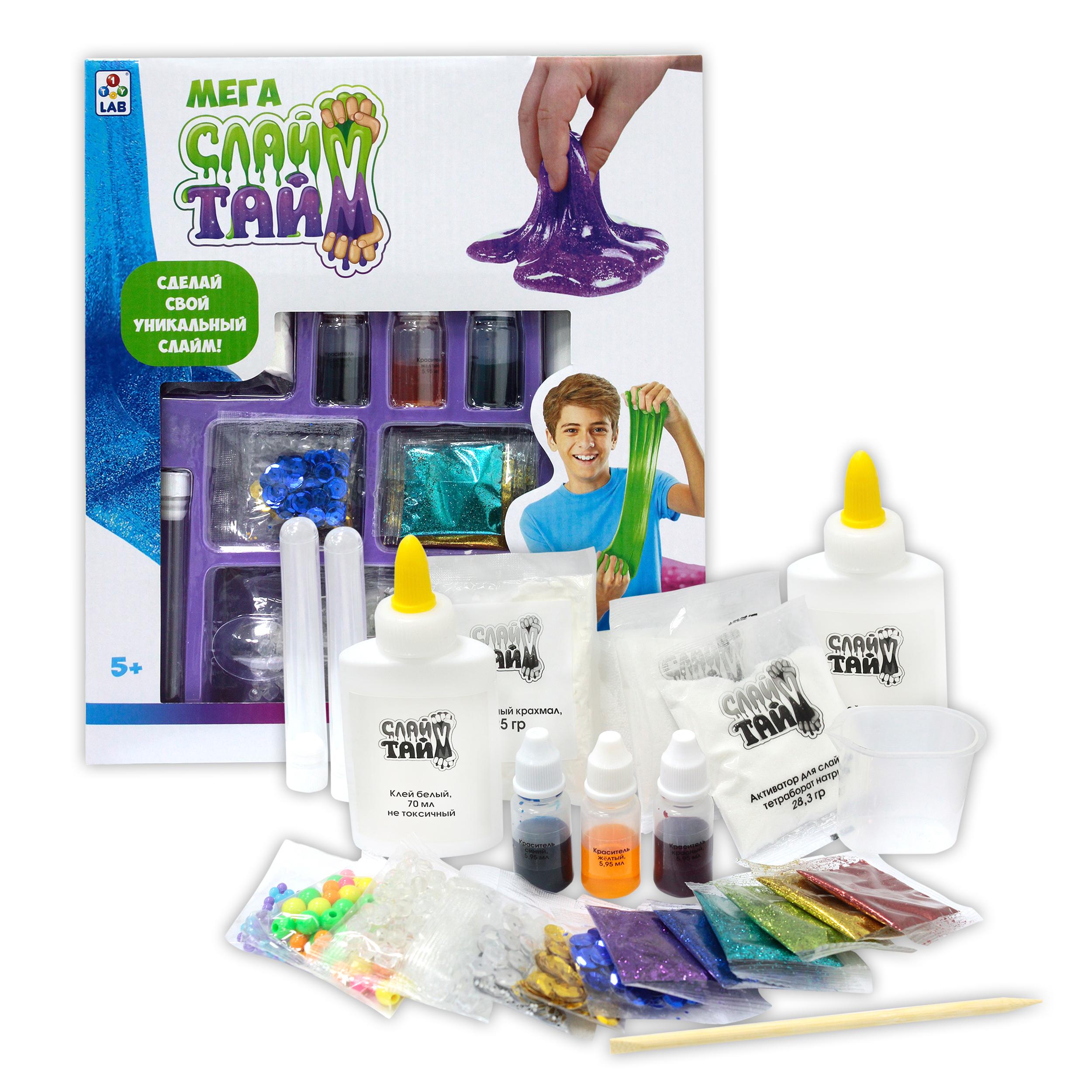 Набор для изготовления слайма 1toy Сделай слайм Т12033 набор для изготовления слайма 1toy сделай слайм многоцветный т12028