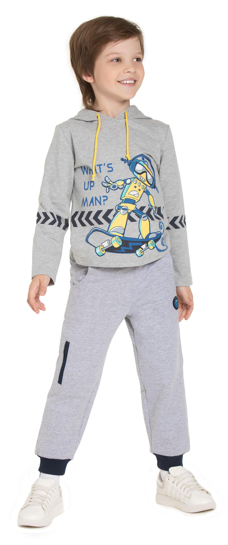 Брюки Barkito Брюки трикотажные для мальчика Barkito Корпорация роботов, серые брюки barkito брюки трикотажные для мальчика barkito супер baby серые с рисунком