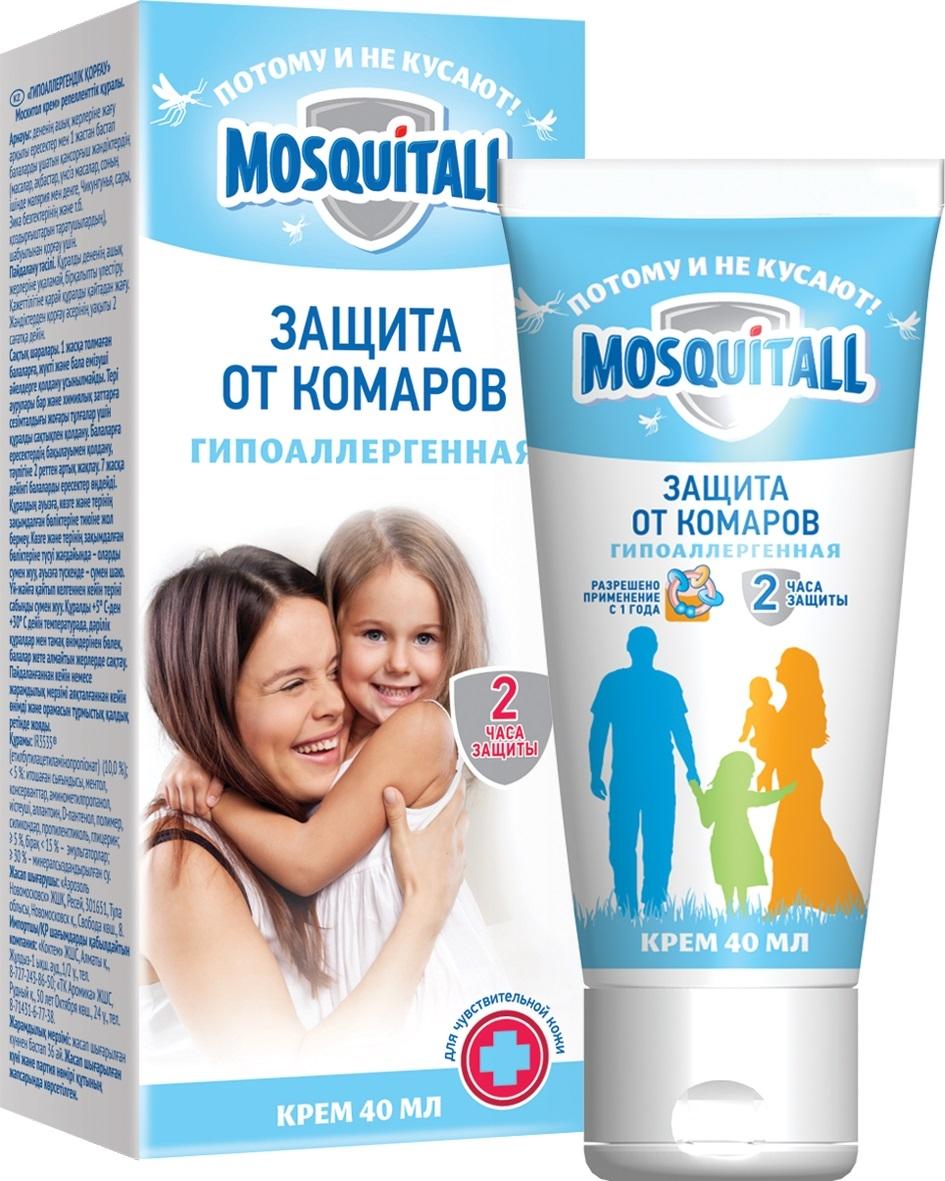 Крем репеллентный Mosquitall Гипоаллергенная защита от комаров, 40 мл от комаров в квартире