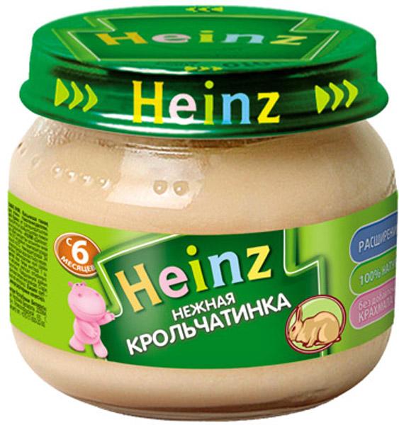 Мясное Heinz Heinz Нежная крольчатинка (с 6 месяцев) 80 г пюре heinz нежная крольчатинка с 6 мес 80 гр