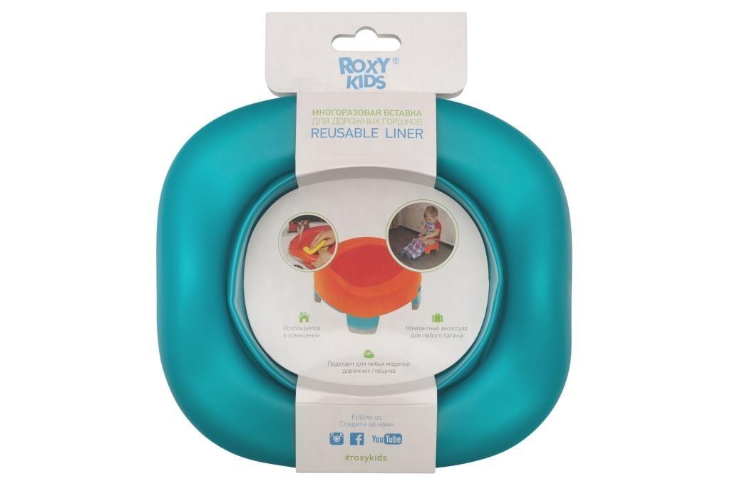 Детские горшки Roxy-kids Вкладка для дорожных горшков Roxy-kids универсальная зеленая roxy kids сменные одноразовые пакеты для горшков 15 шт roxy kids