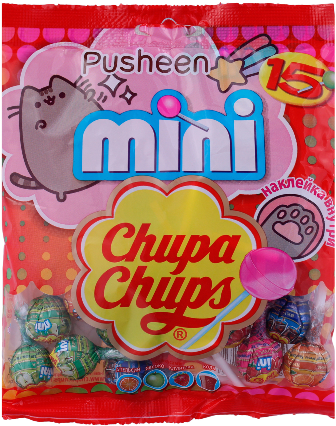 Десерты Chupa Chups Chupa Chups Mini 90 г chupa chups lollipops ice cream flavor 40ct bag fat free