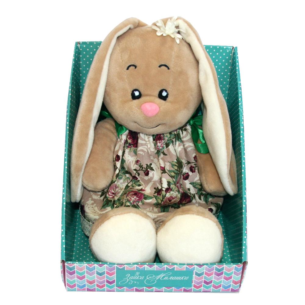 Мягкие игрушки СмолТойс «Зайка-милашка» в платье на завязках 30 см мягкая игрушка смолтойс зайка даша 53 см