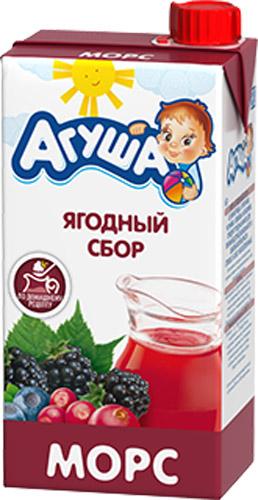 Напитки Агуша Агуша «Ягодный сбор» с 3 лет 500 мл пудовъ ржаной хлеб с клюквой и анисом 500 г