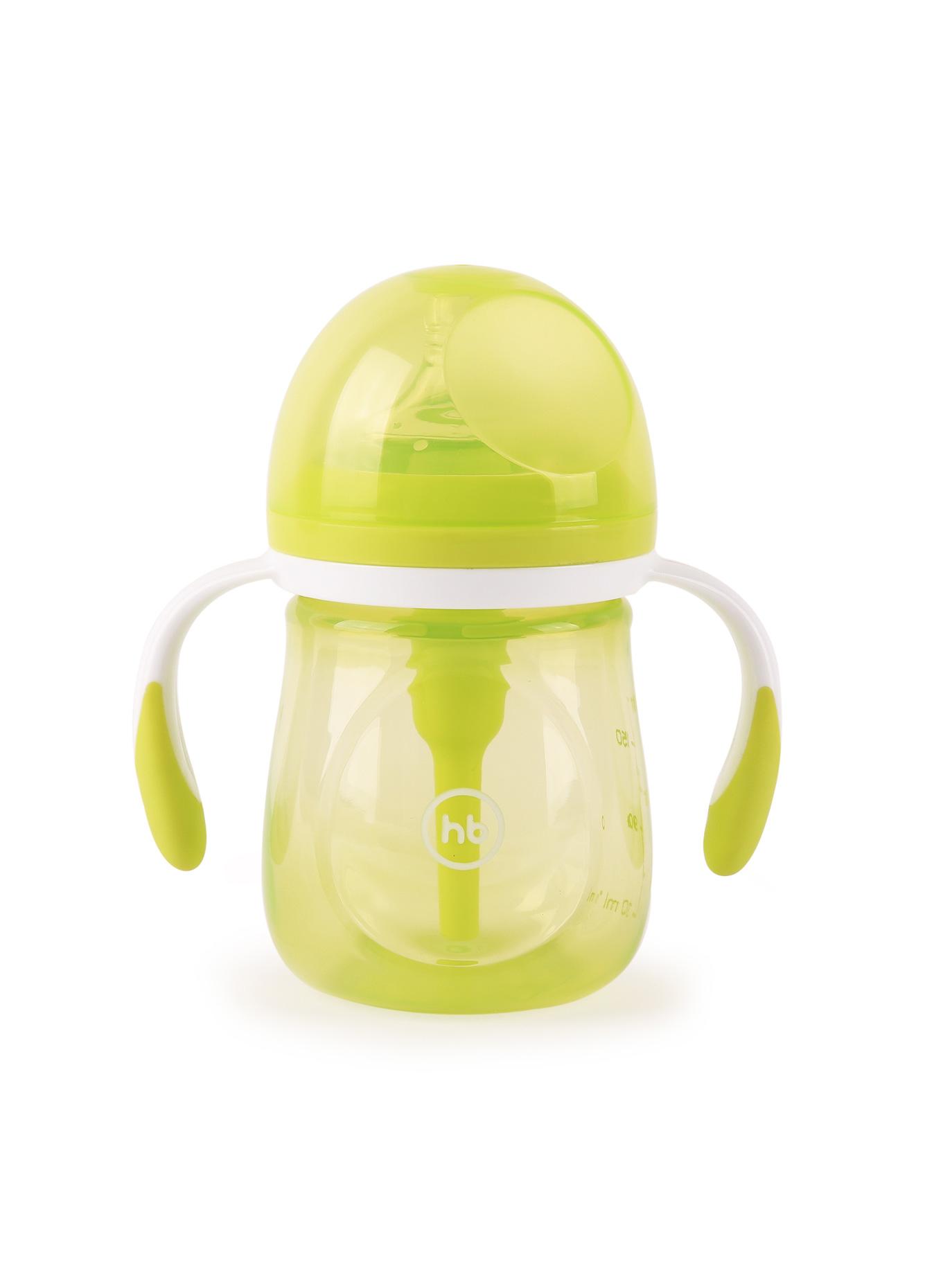 Бутылочка для кормления Happy baby с ручками и силиконовой соской 180 мл