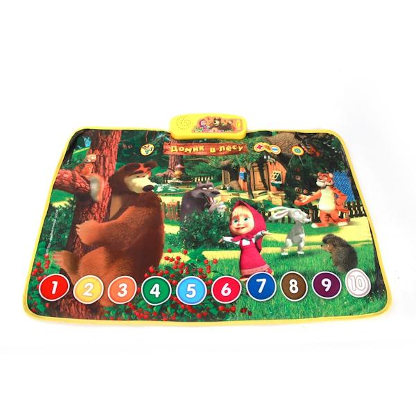 Развивающий коврик Умка Маша и Медведь. Домик в лесу развивающие игрушки умка развивающий коврик умка а барто