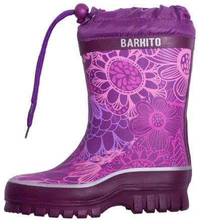Резиновые сапоги Barkito Сапоги резиновые утепленные для девочки Barkito, фиолетовые сапоги evita сапоги