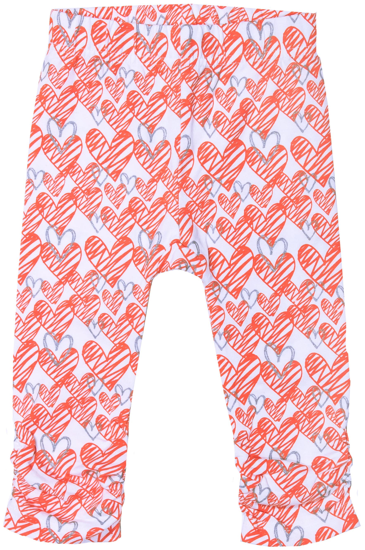 Брюки трикотажные для девочки Barkito Яркая звездочка белые с рисунком брюки barkito яркая звездочка 35y 27615kor