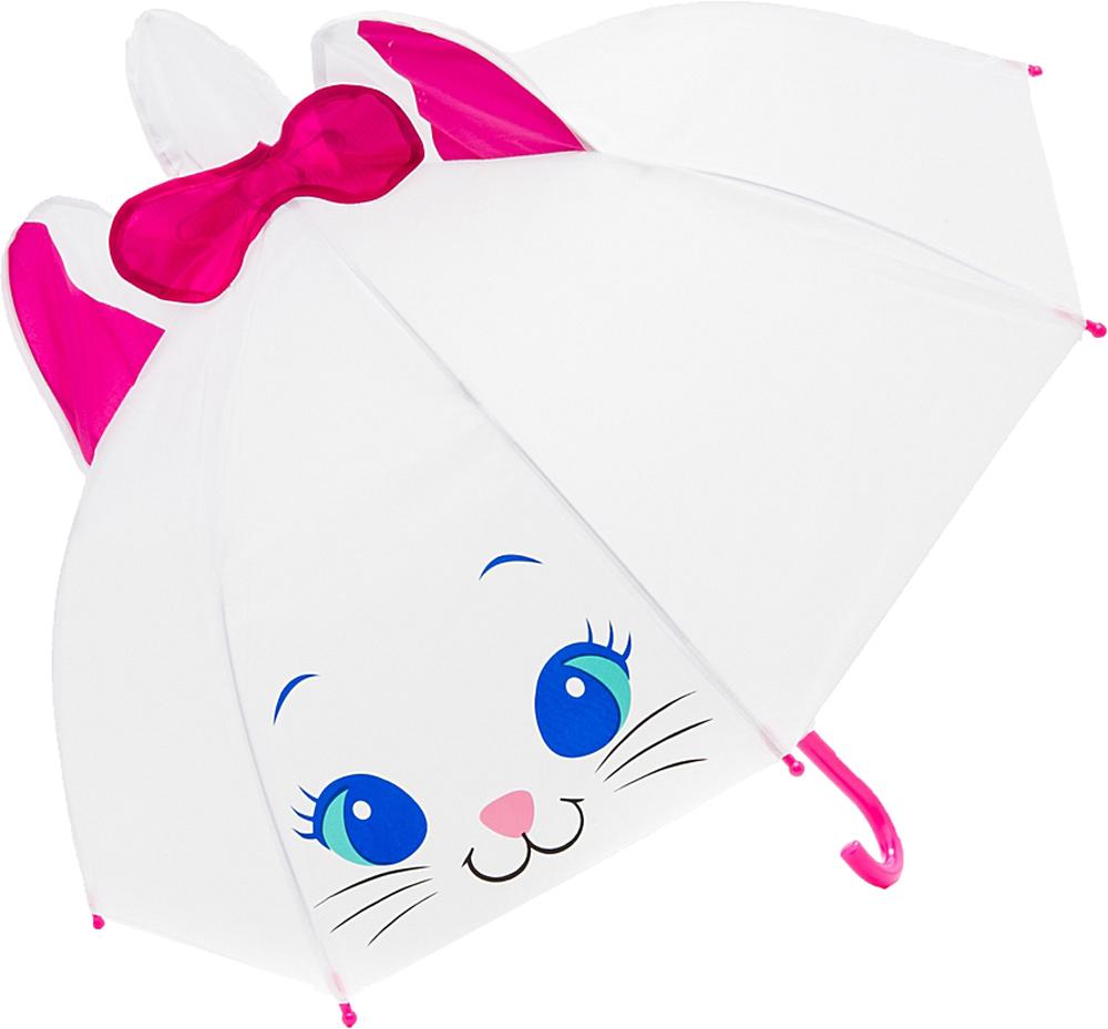 Купить Зонт, Киска, 1шт., Mary Poppins 53568, Китай, белый, розовый, синий, черный, Женский