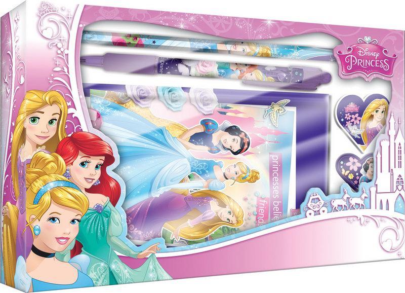Пеналы и наборы Princess Набор канцелярский Disney Princess 5 пр. набор канцелярский disney cars 7 пр
