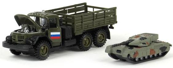 Технопарк Зил-131 с танком 1:43 технопарк машинка зил 115