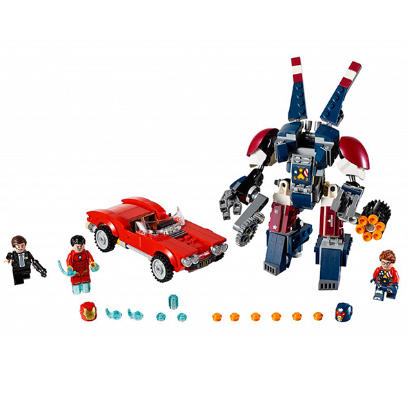 все цены на Конструктор LEGO Super Heroes 76077 Железный человек: Стальной Детройт наносит удар