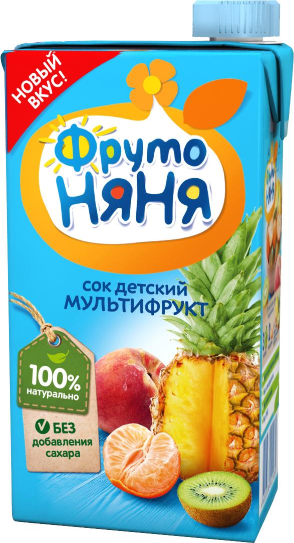 Сок Прогресс ФрутоНяня Мультифруктовый с 3 лет 500 мл