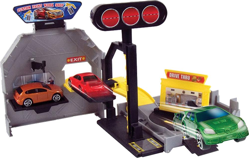 Детские парковки и гаражи Наша игрушка Автосервис