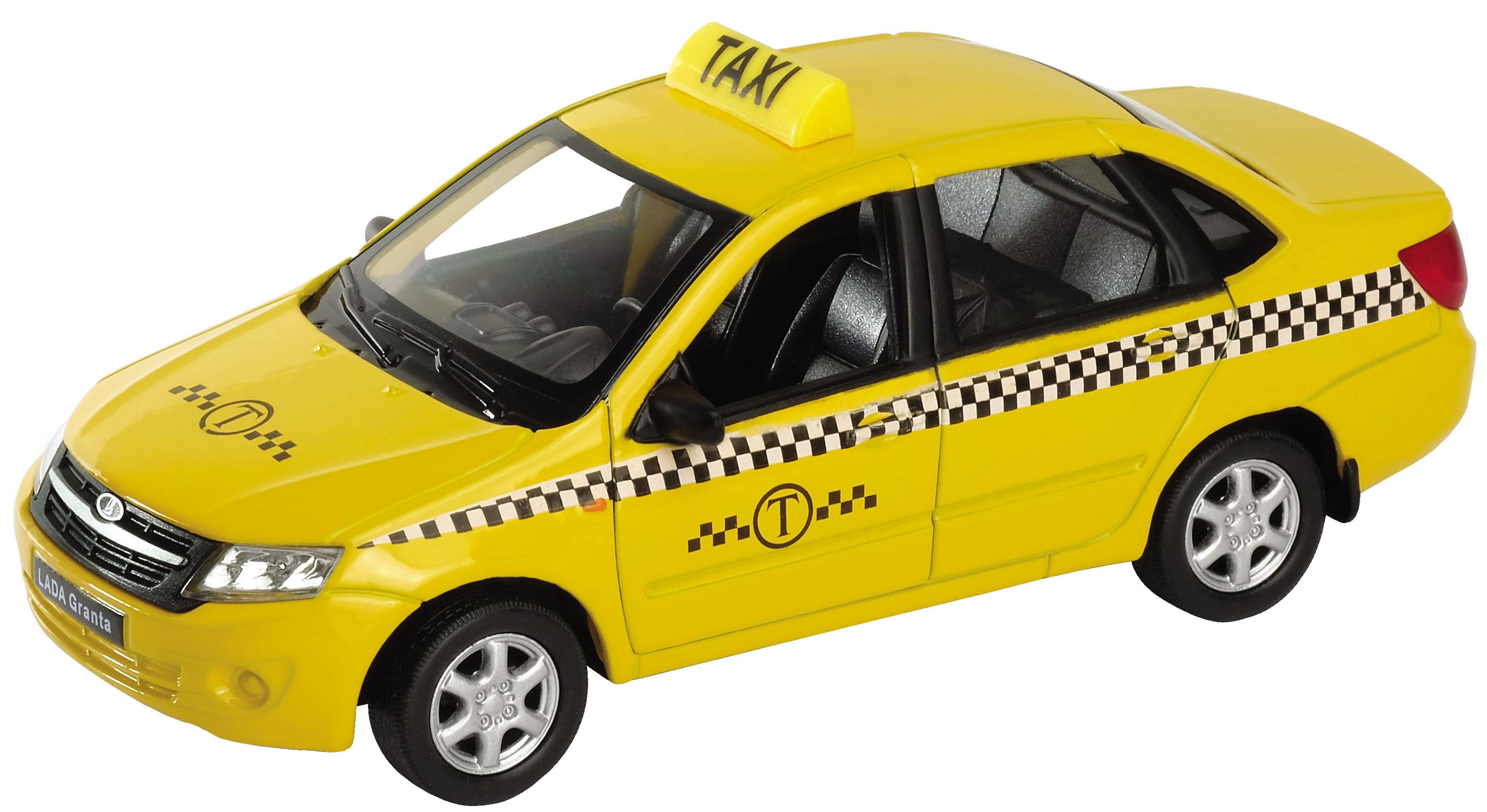 Модель машины Welly Lada Granta Такси 1:34-39 43657TI