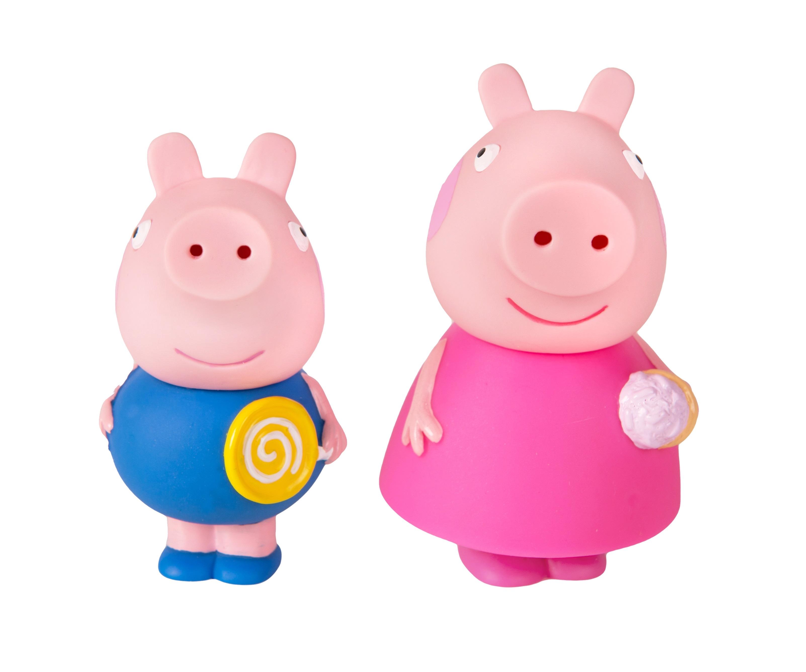 Купить Игрушки для ванной, Пеппа и Джордж, Peppa Pig, Китай, пластизоль