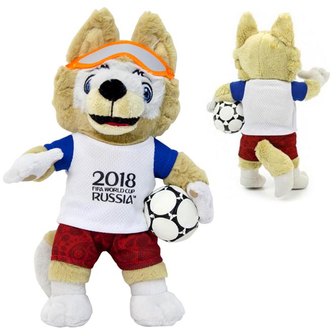 Мягкая игрушка FIFA Zabivaka 33 см чехол fifa 2018 zabivaka 2 для samsung s8