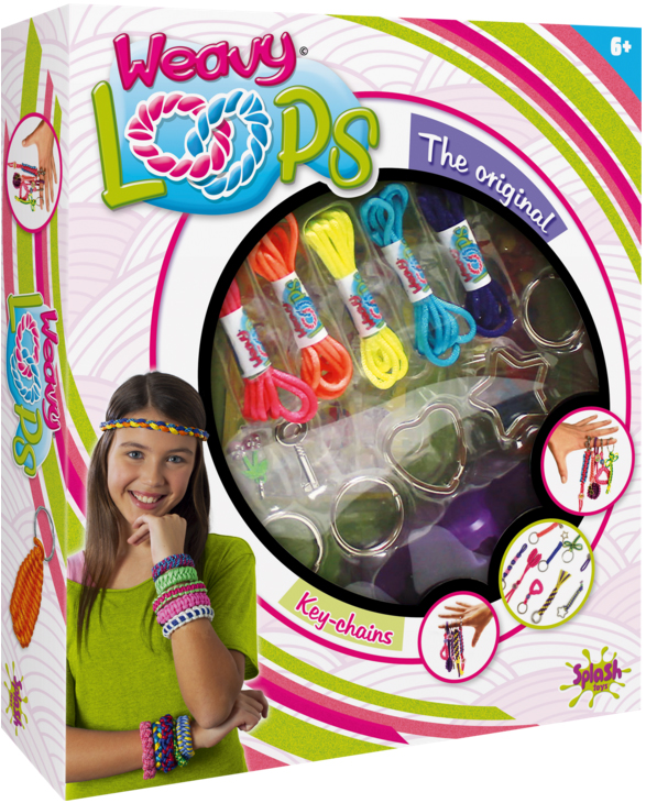 Наборы для творчества Splash Toys Набор для творчества Splash Toys «Плетение брелочков» наборы для плетения набор для плетения в органайзере весёлые пятнашки 292 rb