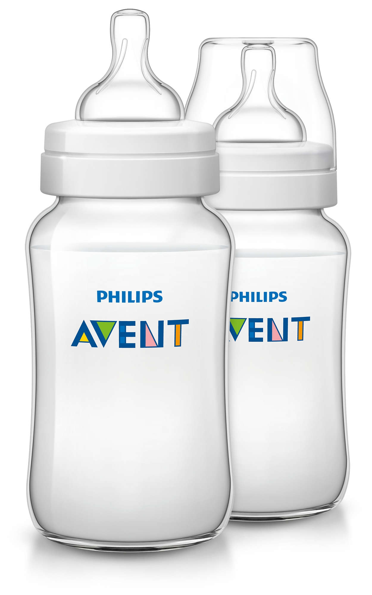 Бутылочки Philips AVENT Бутылочка Philips AVENT «Classic+» с силиконовой соской с 3 мес. 330 мл (2 бутылочки) бутылочка philips avent для кормления 330 мл с 3 мес 86475