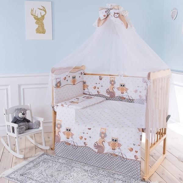 Комплект в кроватку Луняшки Совы