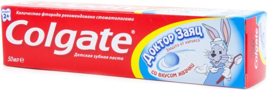 Зубная паста Colgate Доктор Заяц со вкусом жвачки 50 мл с 2 лет картридж lc 1220y
