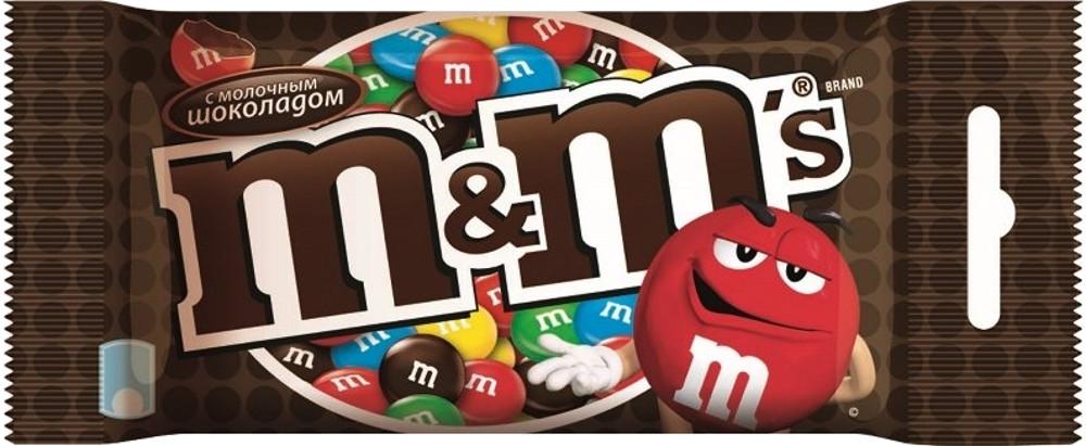 Драже M&M's M&M's с шоколадом 45 г драже m