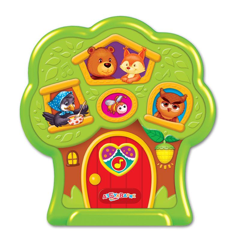 Развивающие игрушки Азбукварик Чудо-деревце Тук-тук тук тук чудо домик сказка 5 песенок 10 фраз и звуков isbn 8175970