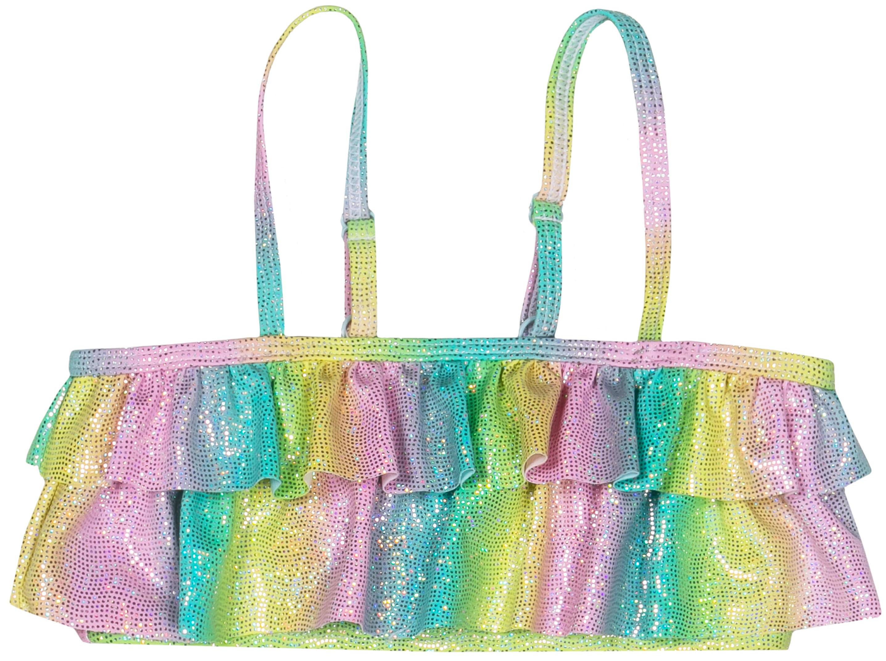 Костюм купальный для девочки Barkito Пляж SS18 голубой с розовым
