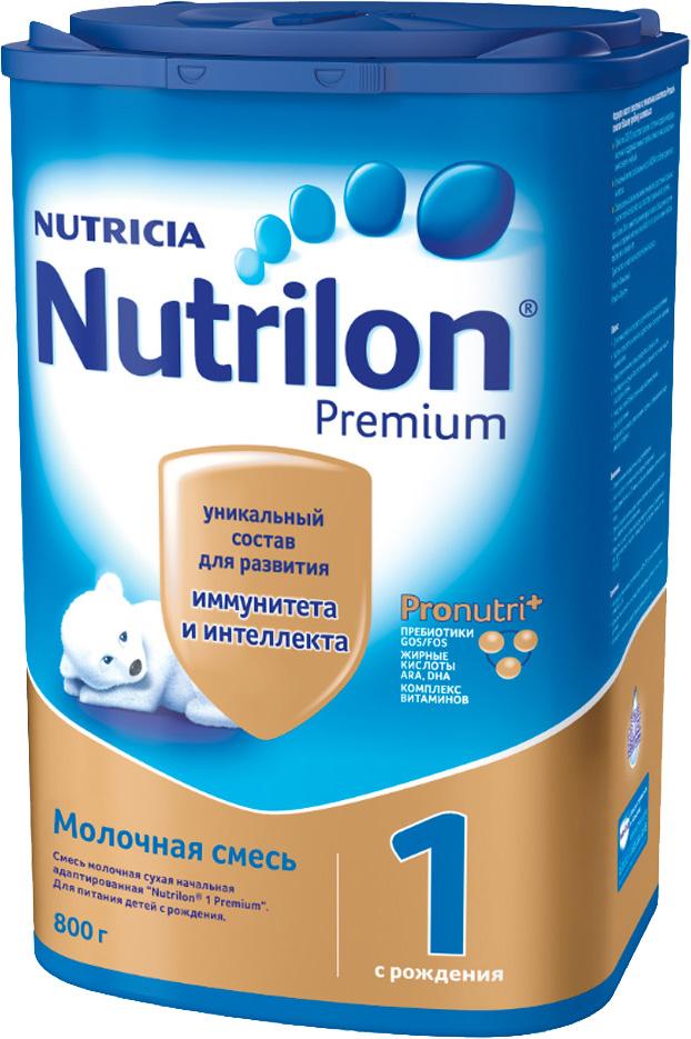Молочные смеси Nutrilon Nutrilon (Nutricia) 1 Premium (c рождения) 800 г молочные смеси nutrilon заменитель 1 пребиотики с рождения 400 г