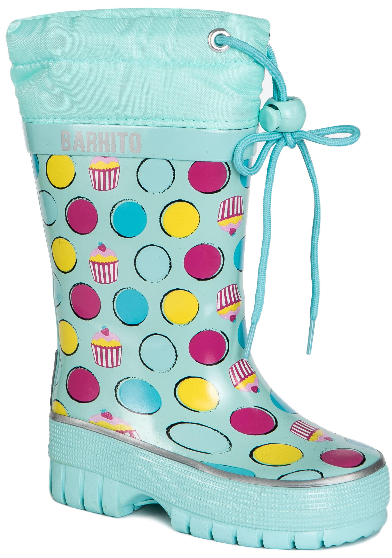 Сапоги для девочки Barkito светло-голубые обувь для девочек barkito 204031