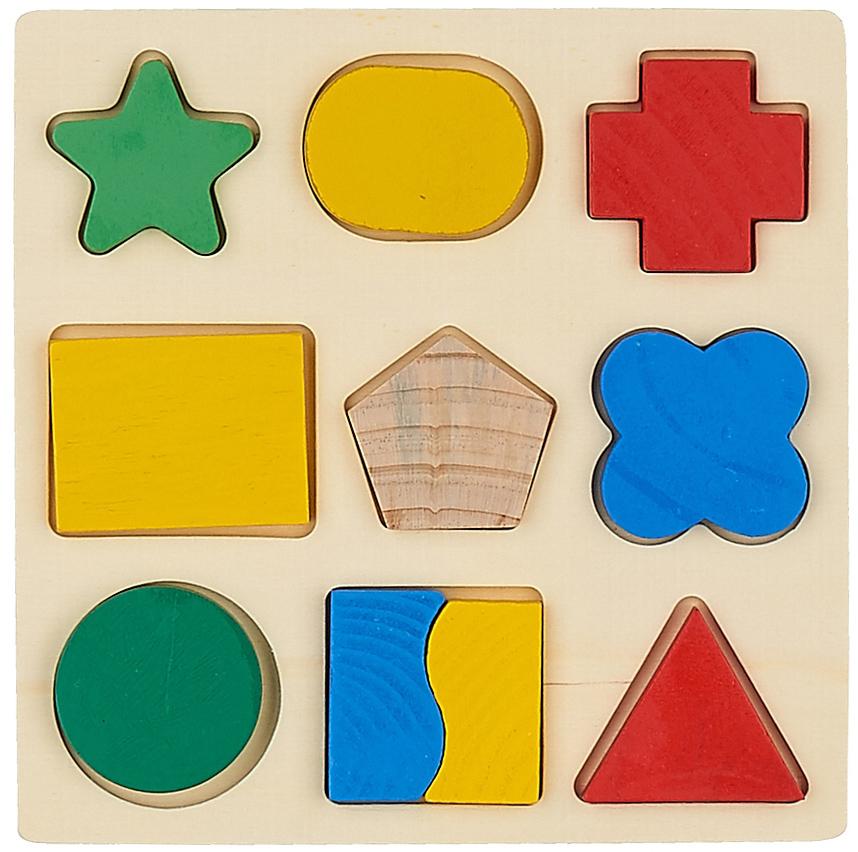 Деревянная игрушка Фабрика Фантазий Фигуры игрушка вкладыш фабрика фантазий фигуры деревянная 9 шт