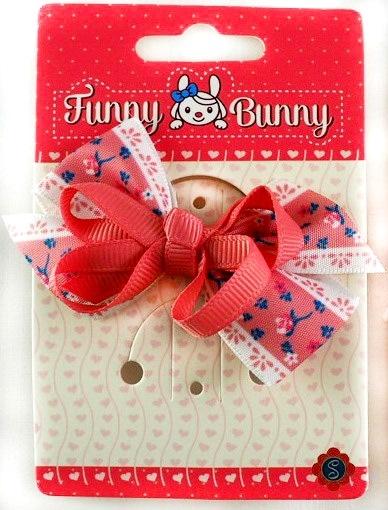 Резинка для волос Funny Bunny Бантик невидимка для волос funny bunny розовые цветы 2 шт