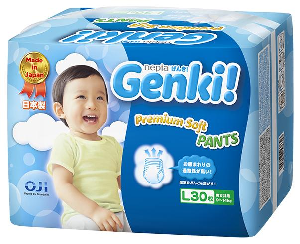Подгузники-трусики Genki Трусики-подгузники Genki L (9-14 кг) 30 шт.
