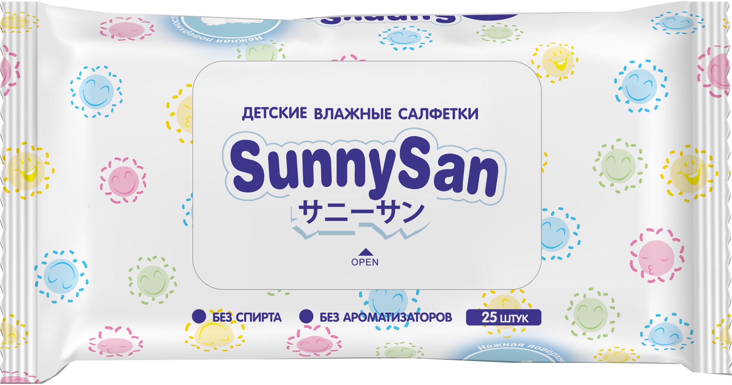 Влажные салфетки SunnySan 25 шт
