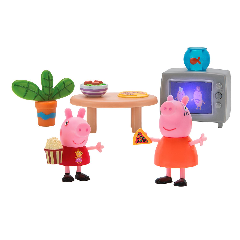 Peppa Pig Peppa Pig Свинка Пеппа и Мама смотрят фильмы, 5 предметов дмитрий коваль су джок 100 главных целительных точек нашего тела нажми на точку и исцелись