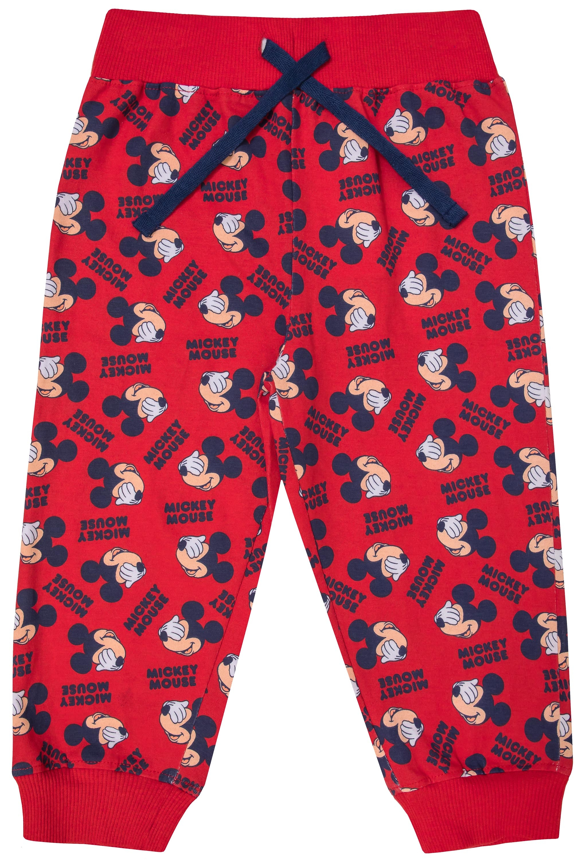 Купить Брюки трикотажные для девочки Mickey Mouse family, красные с принтом, Barkito, Индия, красный, Женский