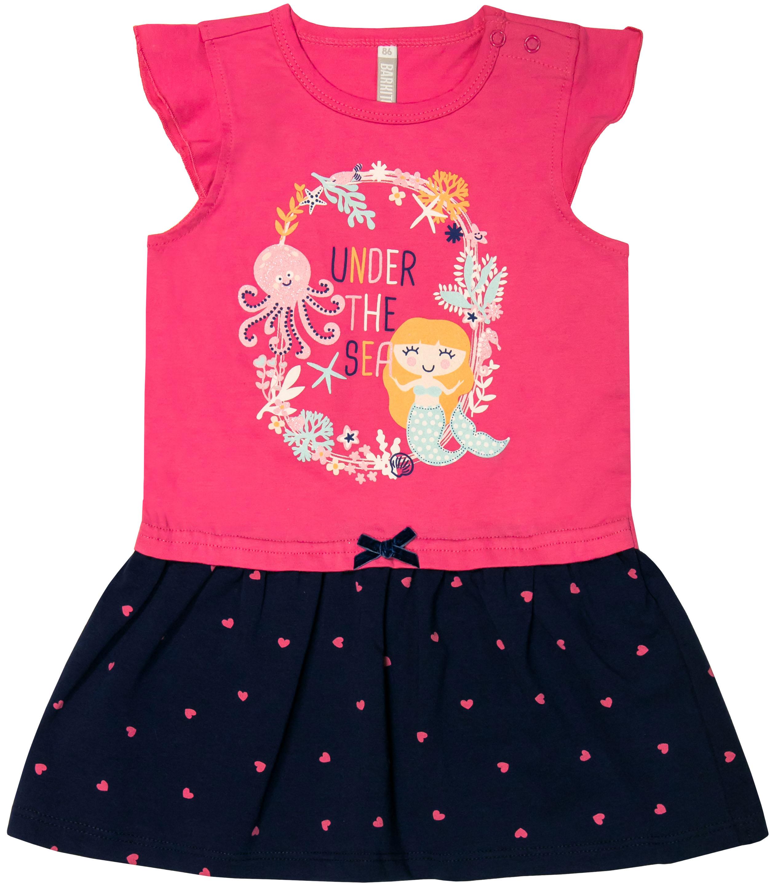 Платье детское Barkito Морская принцесса S18G1022J блузка детская barkito морская принцесса голубая