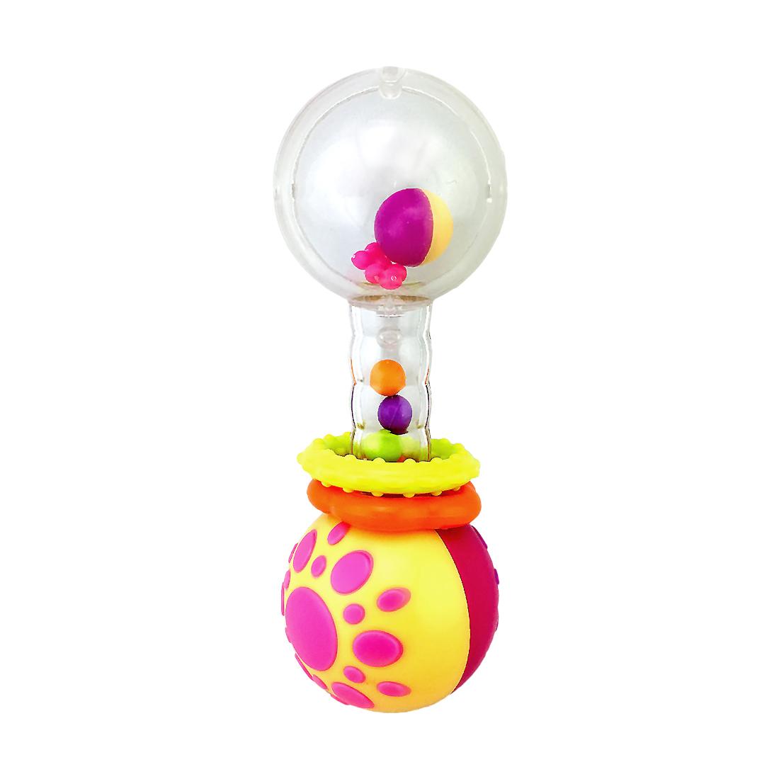 цена Погремушки Жирафики Функциональная погремушка Жирафики «Звонкая гантелька с шариками»