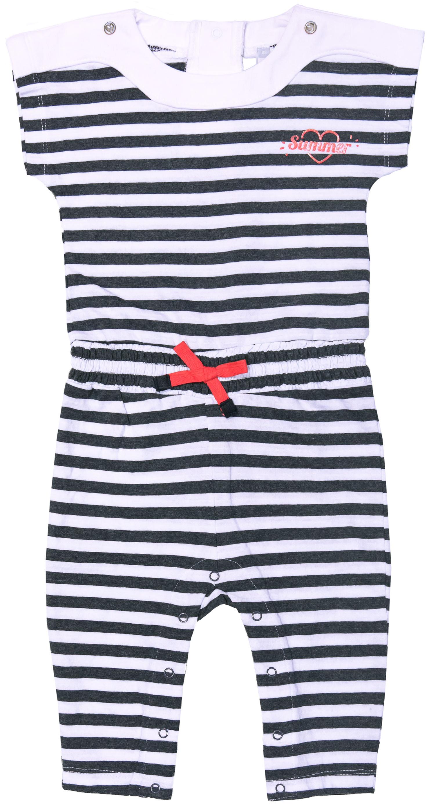 Полукомбинезон для девочки Barkito Яркая звездочка белый с рисунком в полоску брюки barkito яркая звездочка 35y 27615kor