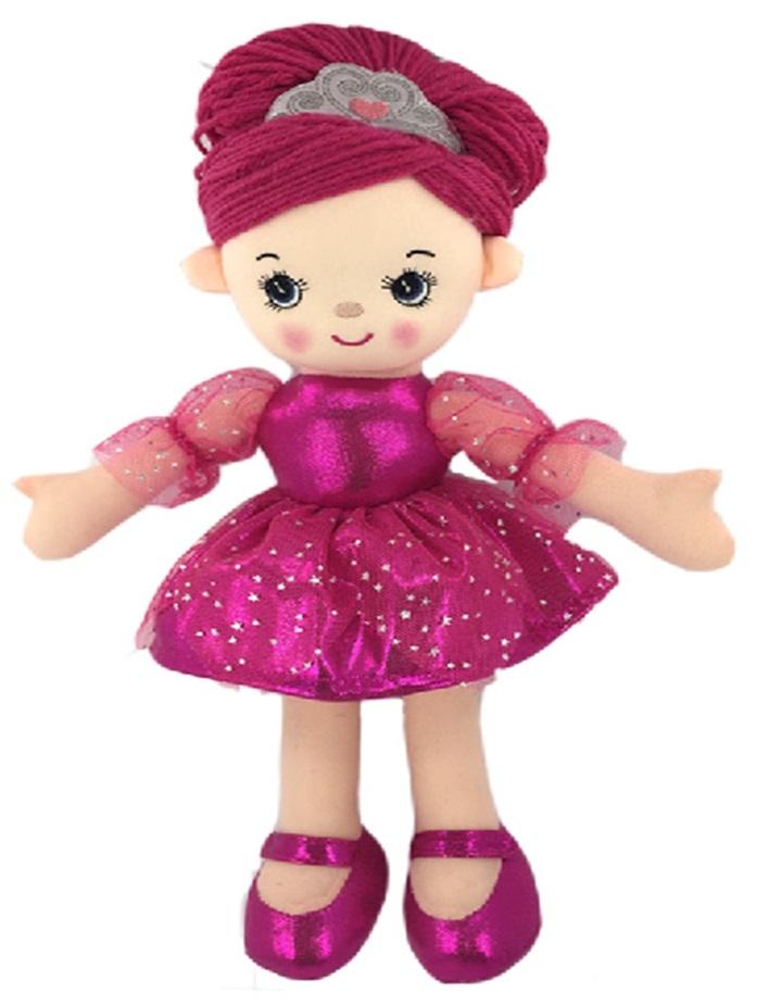 Мягкие игрушки ABtoys Кукла  «Балерина» мягконабиваная 30 см розовая