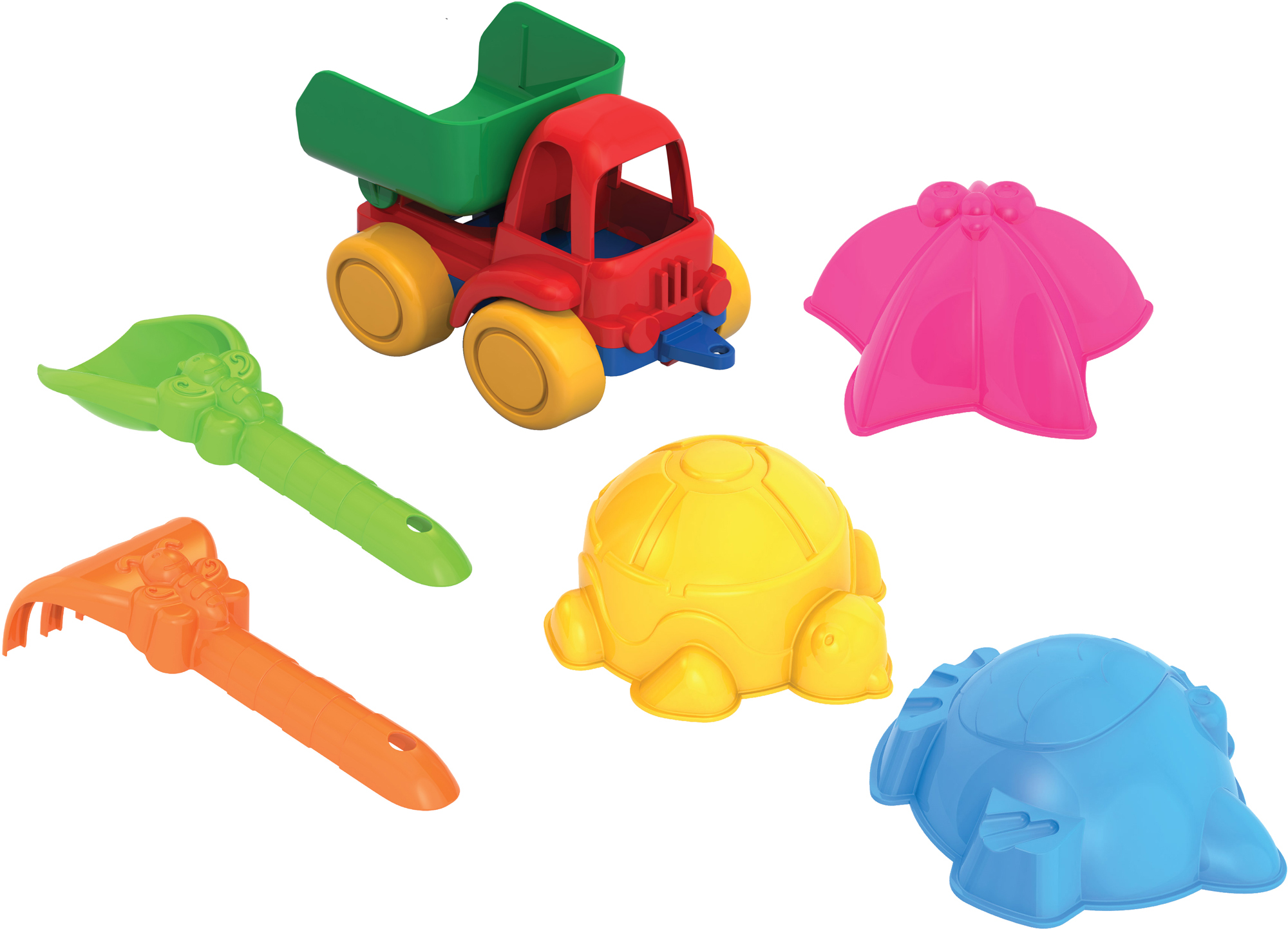 Игрушки для песка Нордпласт Нордпласт №41 (198+199+029+101/1) игрушки в песочницу нордпласт набор для песка ам ням 1
