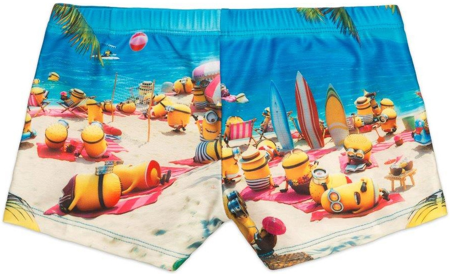 Купальники и плавки Despicable Me Трусы-шорты для мальчика Despicable Me, с рисунком миньоны плавки мужские joss цвет синий оранжевый mhb23s6 me размер 56